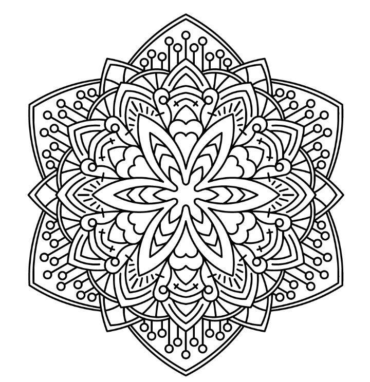Pin de alejandra campos en mandalas | Pinterest | Mandalas, Colorear ...