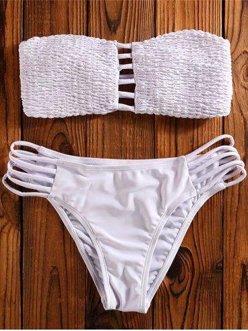 37c975ce4f3af Cut Out Bandeau Strapless Two Piece Swimsuit
