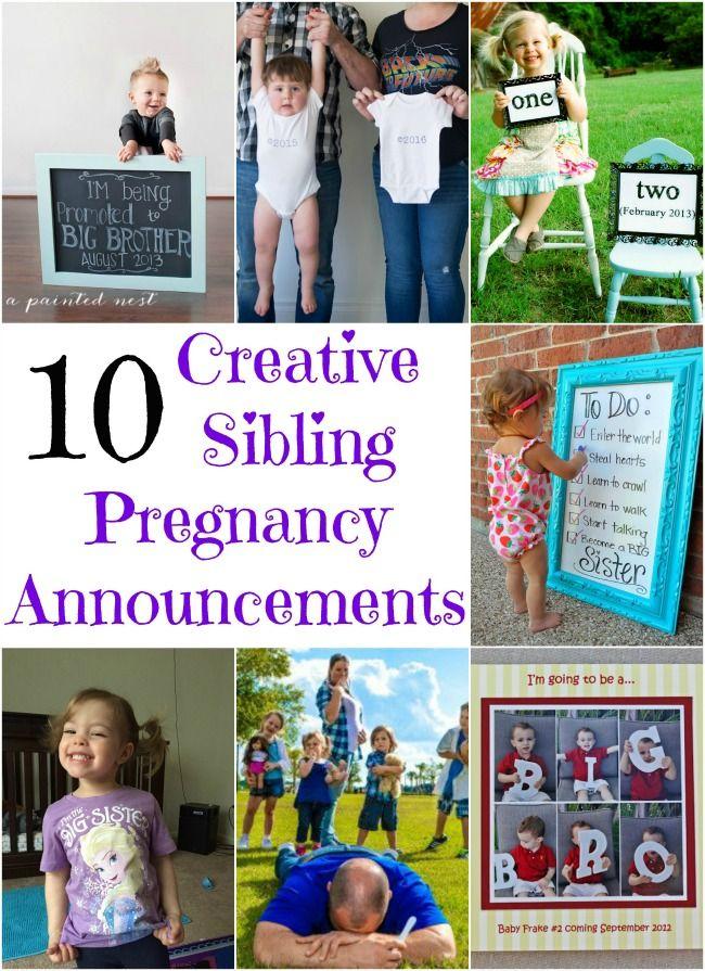 10 creative sibling pregnancy