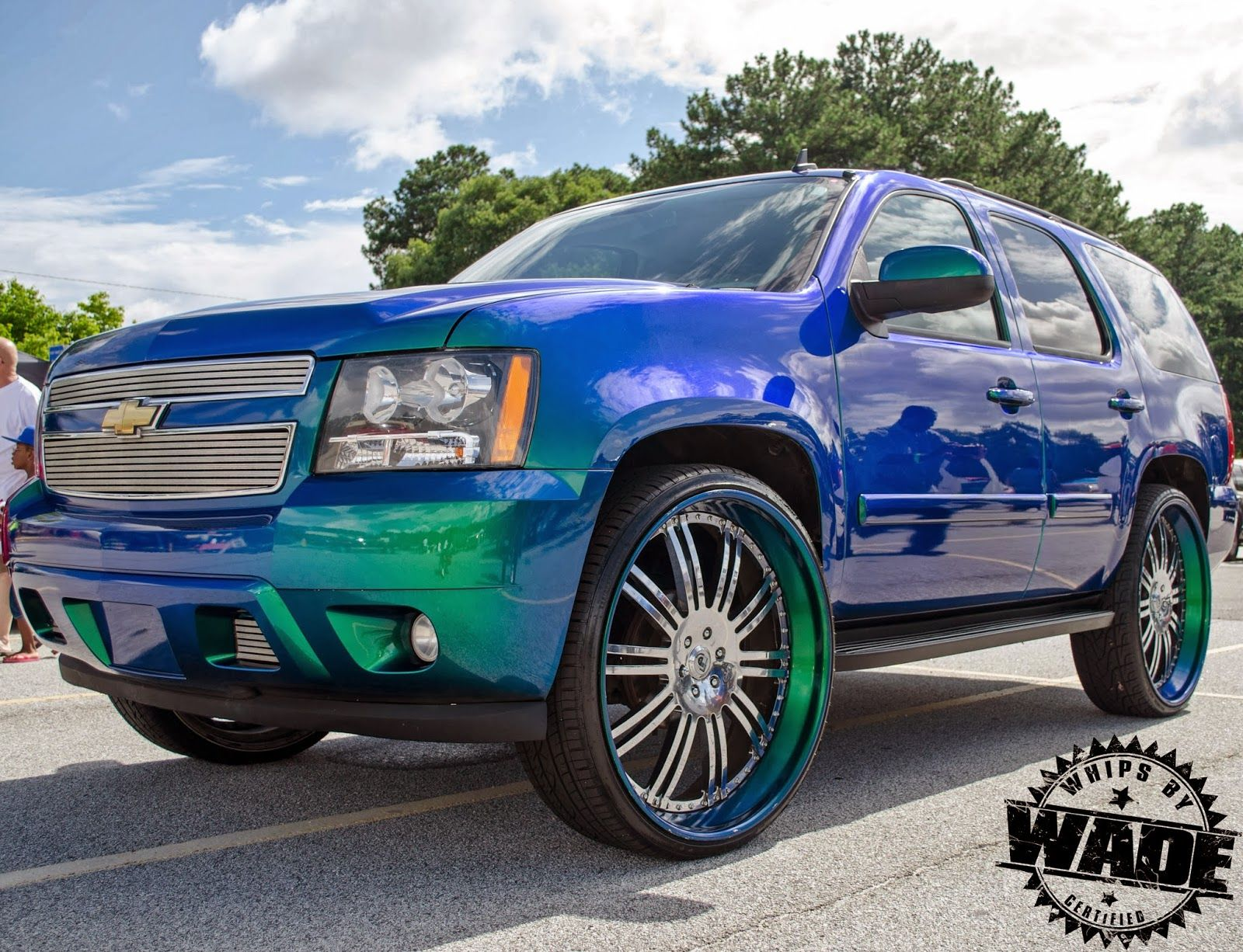 Whips by wade ourageous painted chevrolet tahoe on 30 asanti wheels