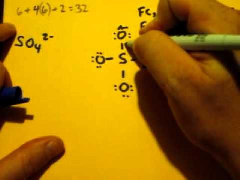 Lewis Dot Structure of SO4 2- (Sulfate Ion) - YouTube tutoring