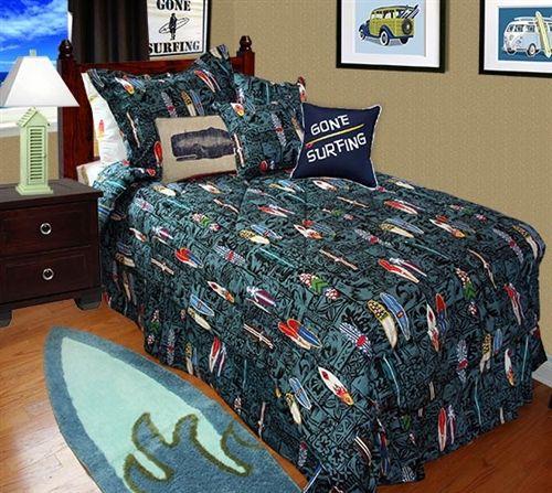 Surfboard Comforter By Dean Miller Surf Bedding