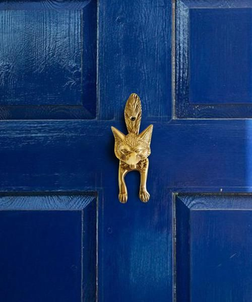 Brass Fox Door Knocker - made of solid brass - installation screws not included - & Brass Fox Door Knocker - made of solid brass - installation screws ... pezcame.com