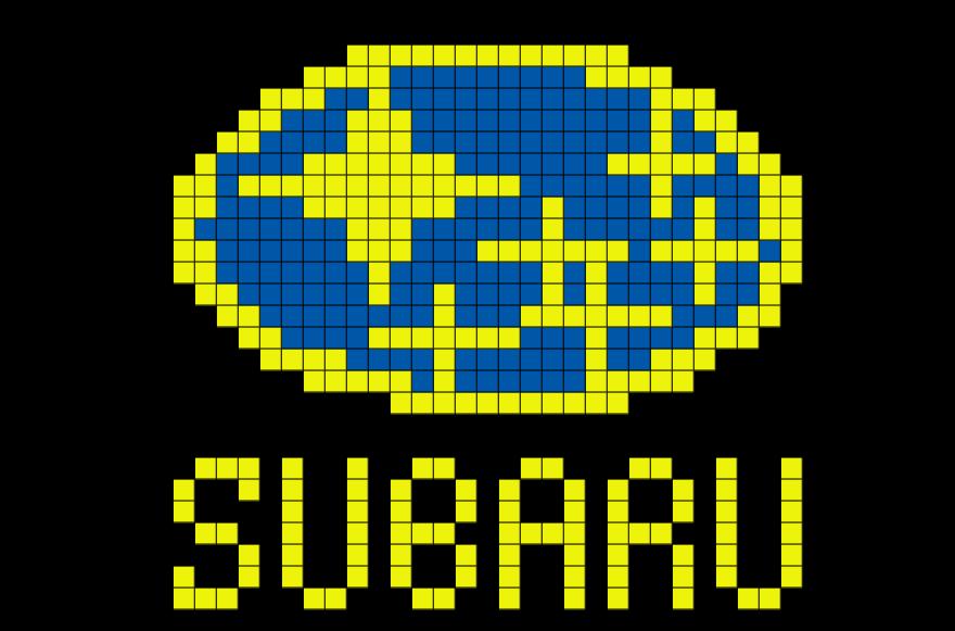 Subaru Pixel Art Tapestry Crochet Patterns Pixel Art