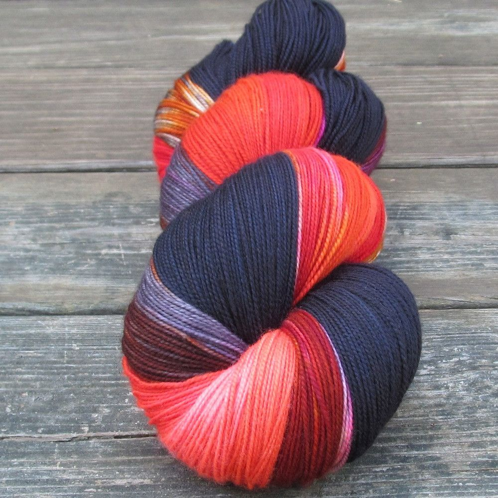 Deep Sea Jellyfish, Blackbird, Naughty Fairy - Yummy Trio - Babette | Miss Babs Hand-Dyed Yarns & Fibers, Inc.