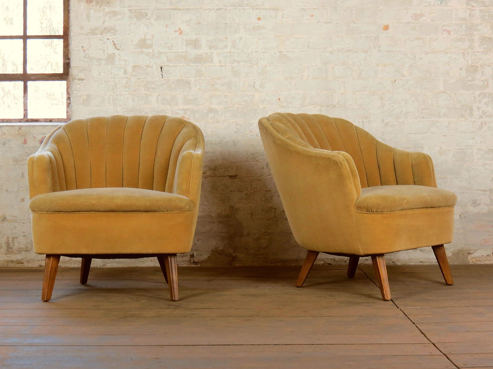 1/2 Mid Century Retro Cocktail Lounge Easy Chair Armchair Sessel ...