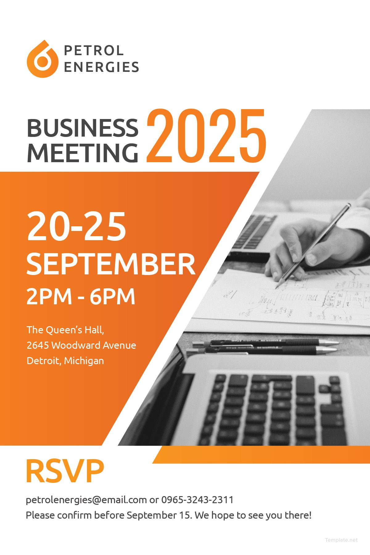 Free Template For Professional Business Meeting Invitation