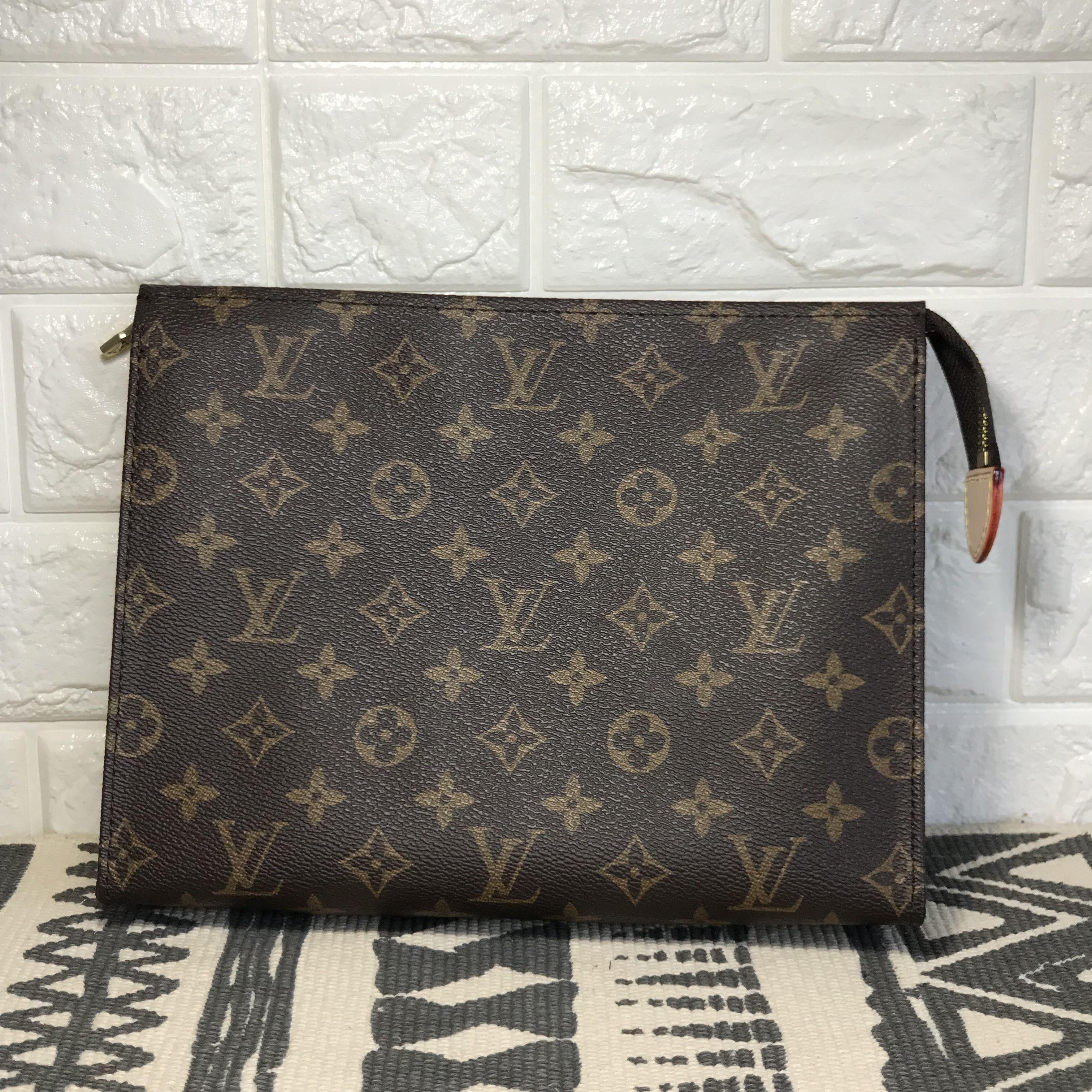 bc5504af337 Louis Vuitton lv unisex woman man monogram clutch purse oxidized ...
