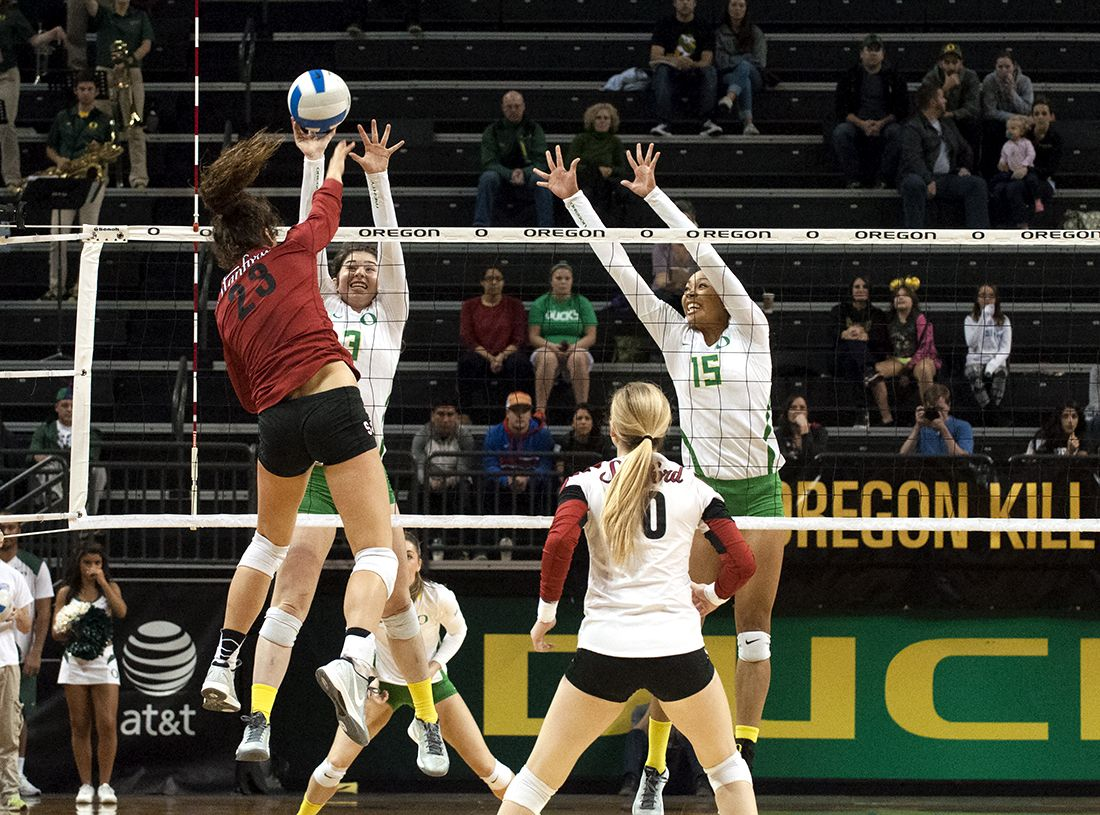 Photos Oregon Volleyball Falls To Stanford Cardinal 3 0 Stanford Cardinal Stanford Oregon