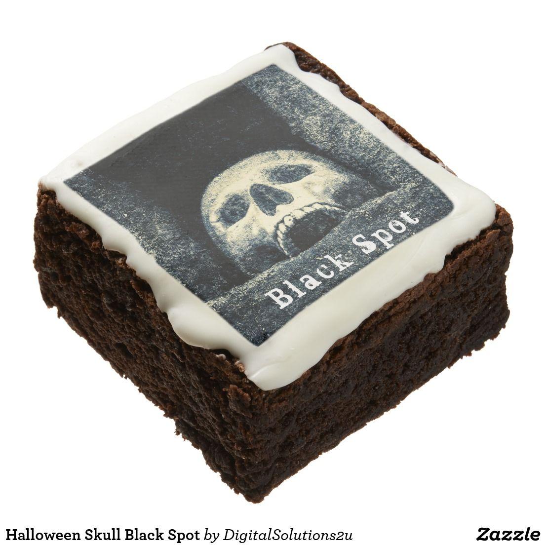 Halloween skull black spot brownie