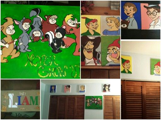 Artwork I did for his neverland themed nusery...