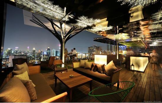 bangkok rooftop bar above elven fraser suites