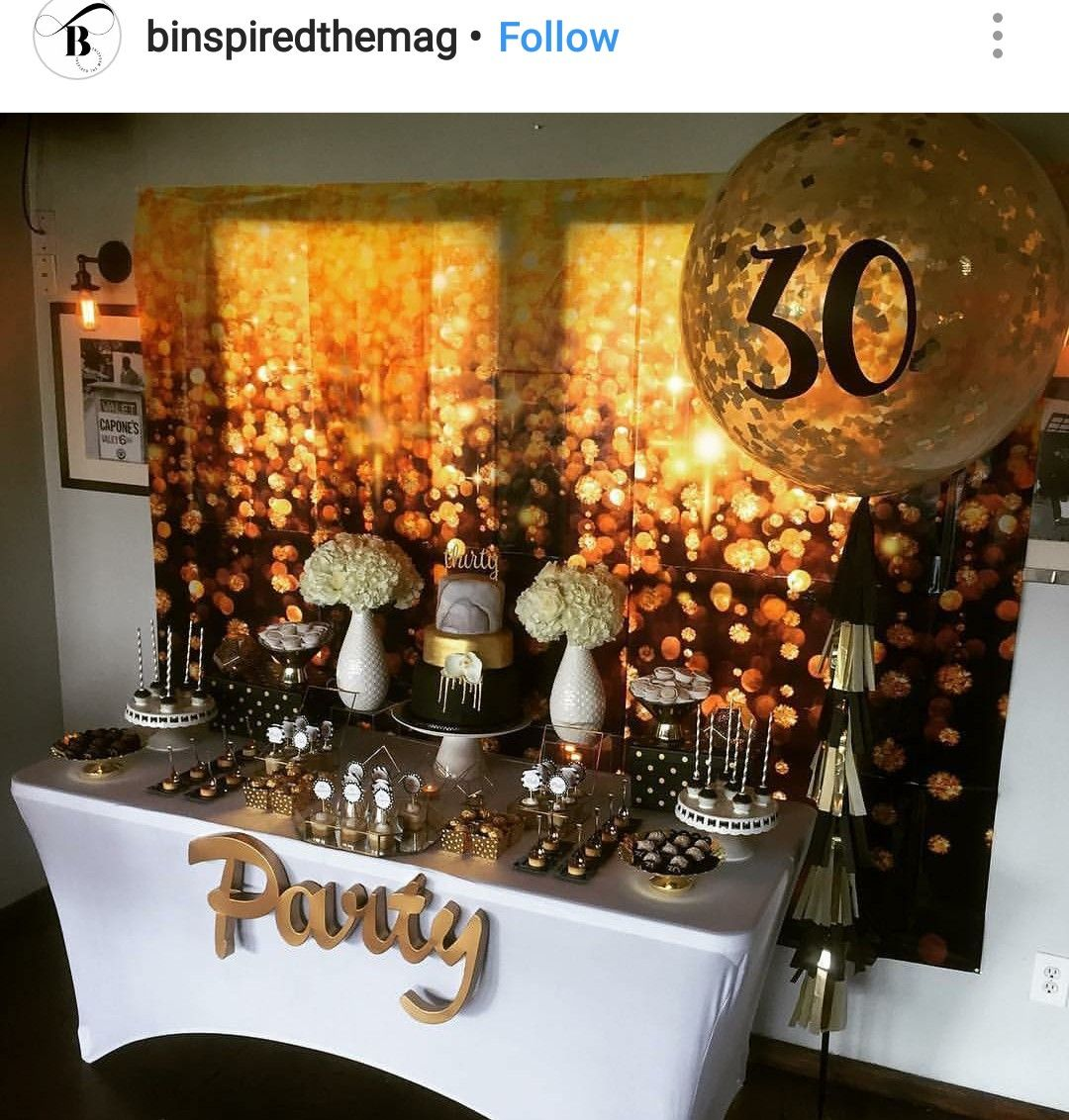 Birthday Table Top Decorations: 30th Birthday Party Dessert Table And Decor