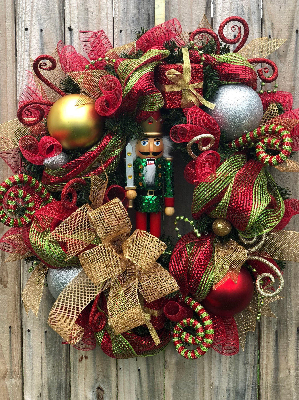 Nutcracker Wreath, Nutcracker Christmas Wreath, Christmas Wreath ...