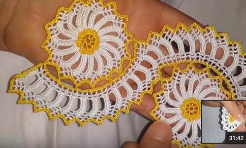 Çarkıfelek Motifli Havlu Kenarı Yapılışı Anlatımlı Türkçe Videolu
