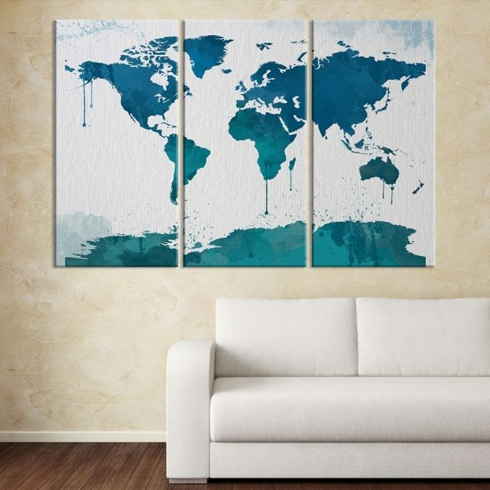 Large wall art light blue world map on white background canvas print large wall art light blue world map on white background canvas print mygreatcanvas gumiabroncs Gallery