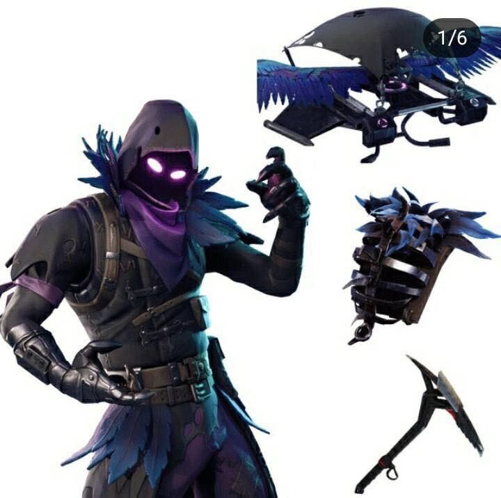 Raven Skin Fortnite Set