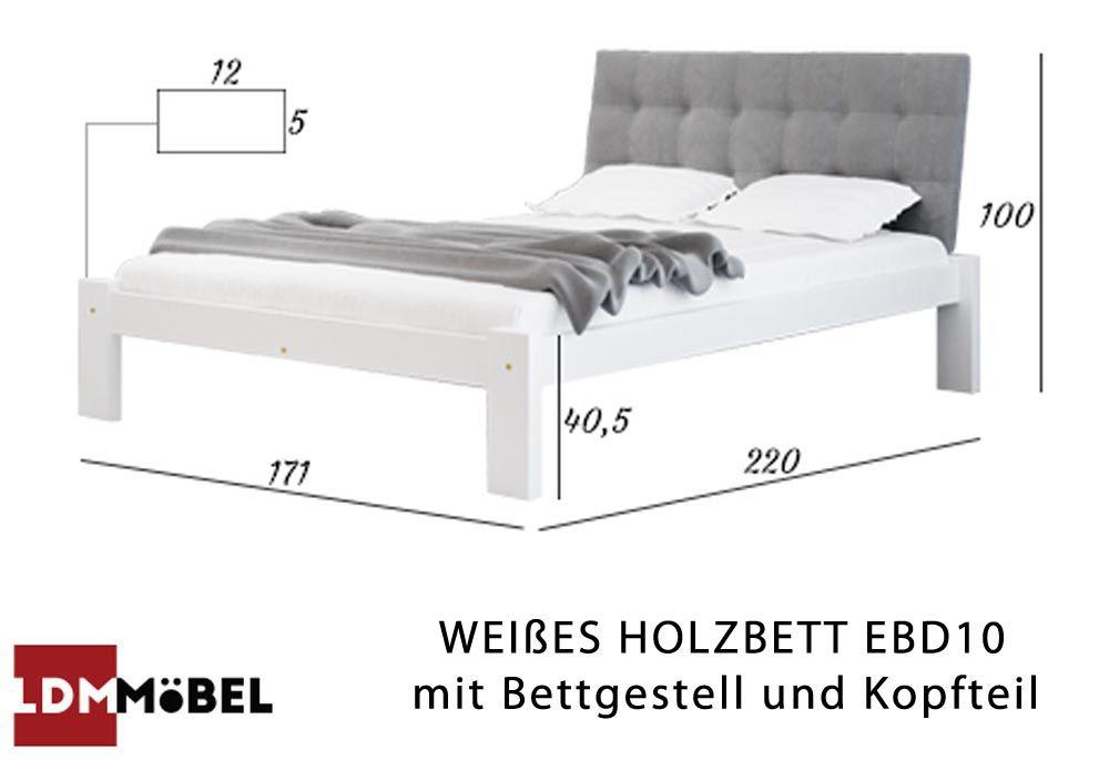 Ebd10 Ist Ein Modernes Gestepptes Bett Mit Hohem Kopfteil In 2