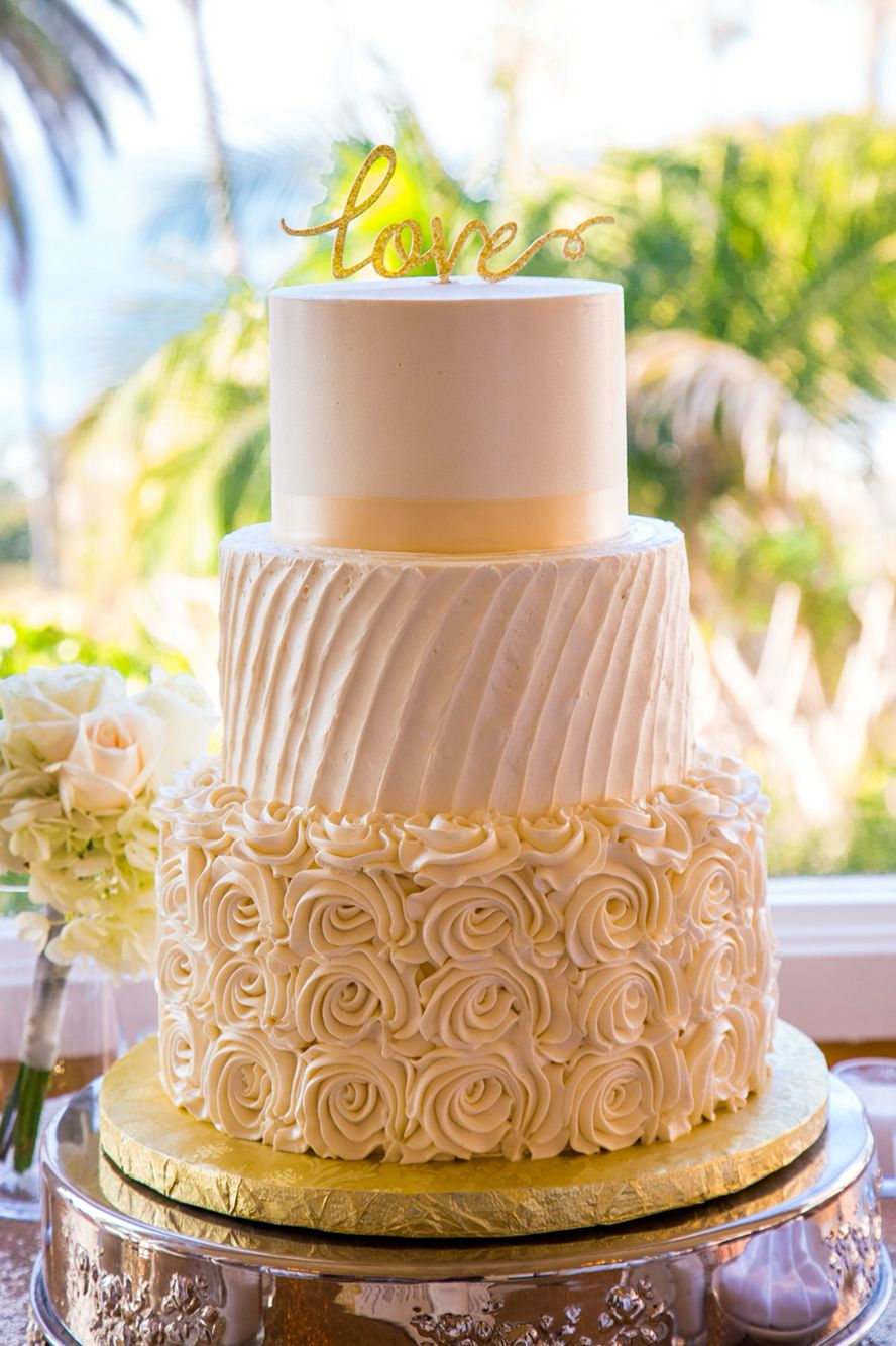 Classic 3 tier wedding cake by baby cakes bakery in san