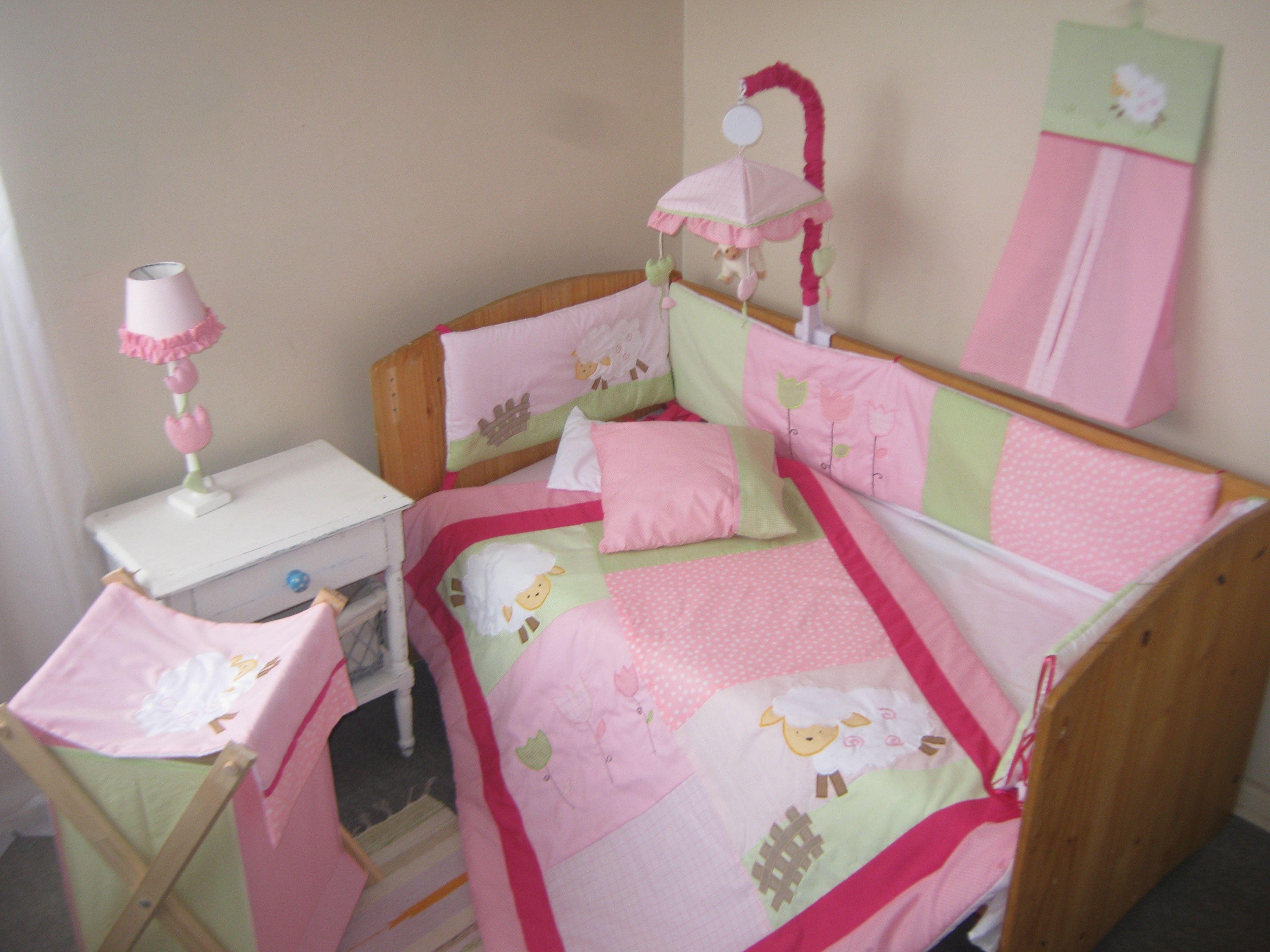 Set de cuna niñas Ovejitas | set de cuna, crib bedding set ...