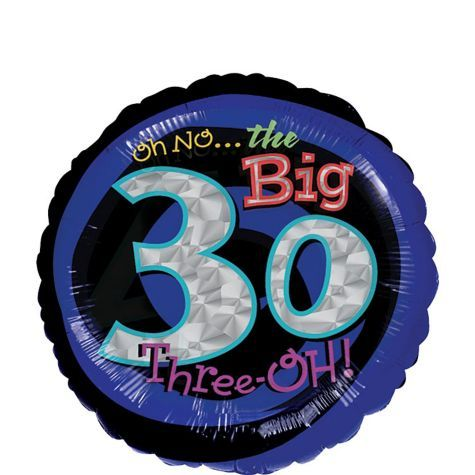 Foil Oh No The Big 3 0 30th Birthday Balloon
