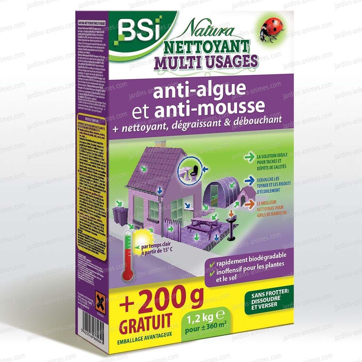 Natura Puissant Nettoyant Et Antimousse 1kg 200g Gratuit Nettoyant Anti Mousse Toiture Nettoyant Multi Usage