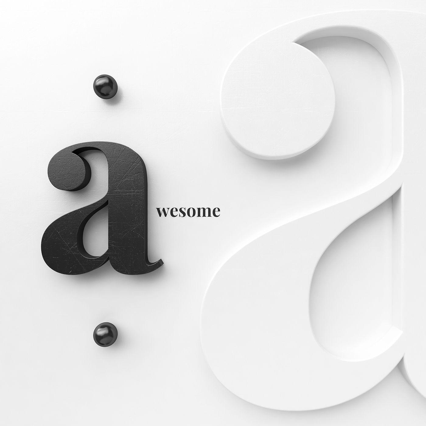 Art prints - 3d letters on Behance