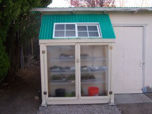 Building A Greenhouse From Recycled Shower Doors With Images