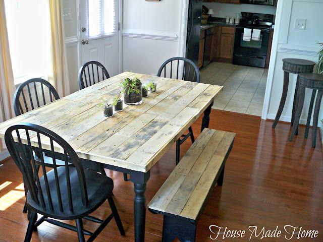 Diy Pallet Farmhouse Table Diy Kitchen Table Diy Farmhouse