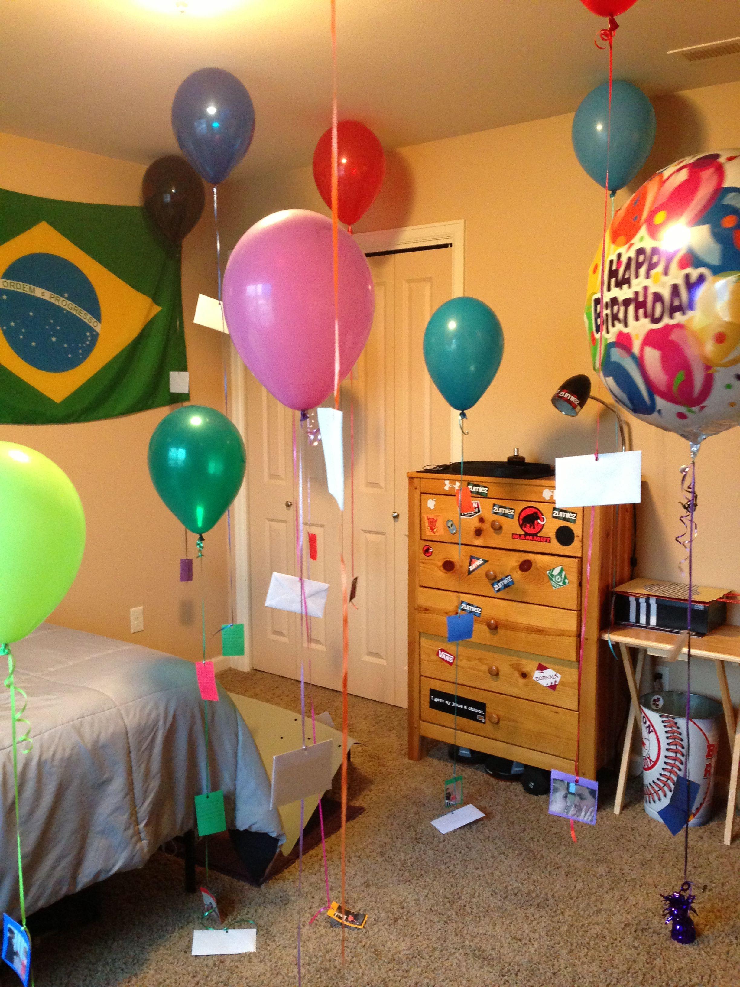 Birthday surprise for my boyfriends birthday Each envelope had