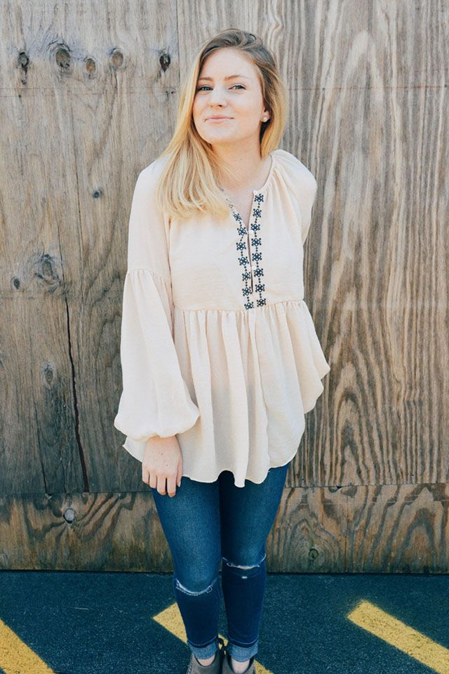 Right Down The Middle Top || The Mint Julep Boutique https://www.shopthemint.com/products/right-down-the-middle-top-natural?sku=51914-WHT-SM&utm_source=Blog%20Collab&utm_medium=Bess%20Pearson&utm_campaign=Blog%20Collab