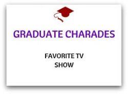 graduation party games graduate charades favorite tv show