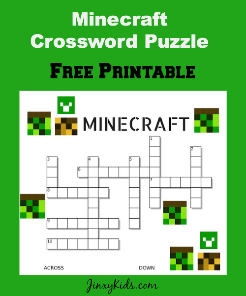Free printable minecraft crossword puzzle thanks to shindig prints free printable minecraft crossword puzzle thanks to shindig prints for supplying us with this malvernweather Gallery