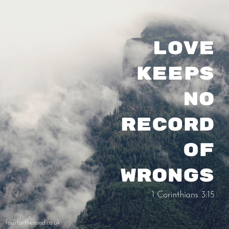 love quote a bible quote about love love keeps no record of