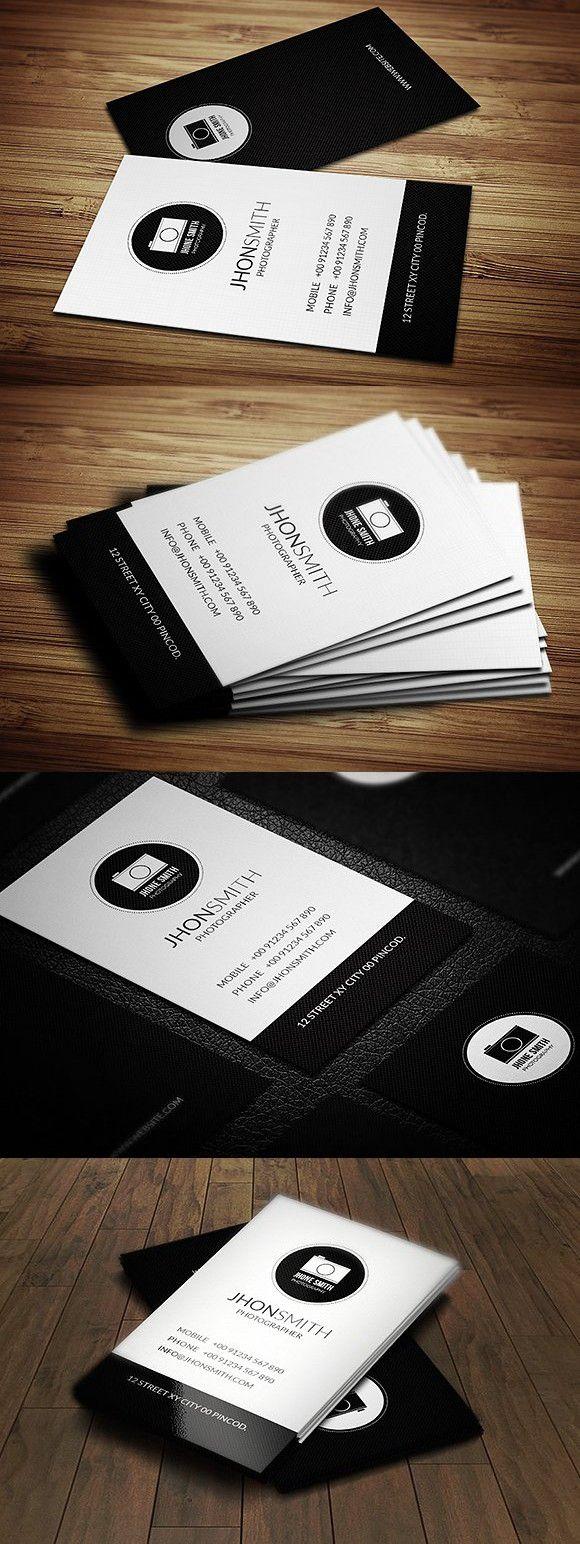 creative photographer business card  photographer