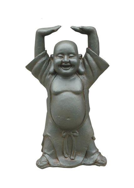 Metallic-Look Laughing Buddha Abundance