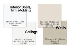 Paint Colors To Sell Your Home. For Walls, I Use Sherwin Williams  Accessible Beige
