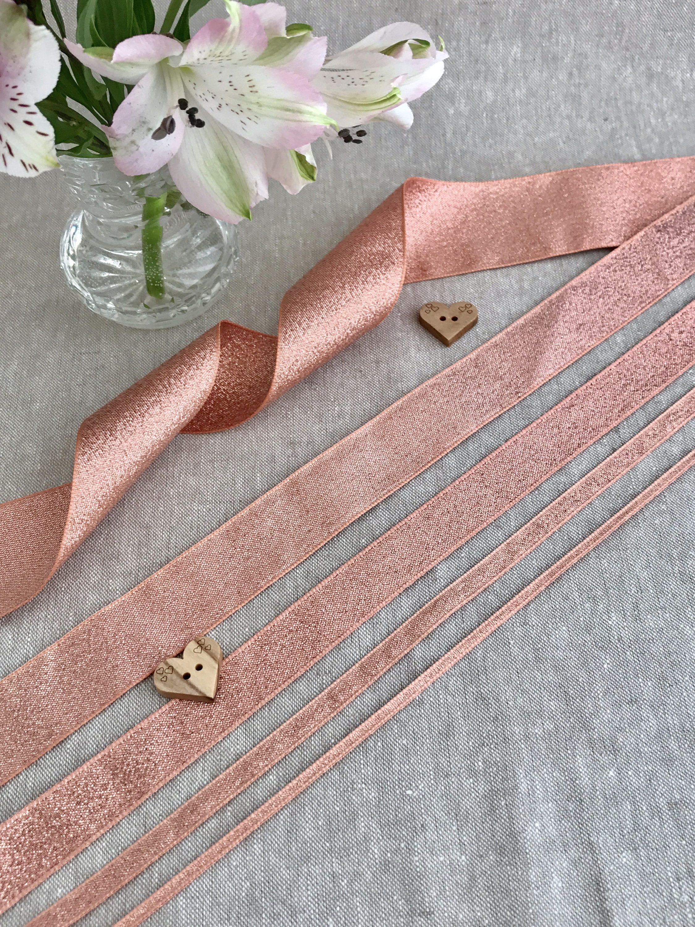 Berisfords HAND KNITTED ribbon various lengths ** new line ** 15mm