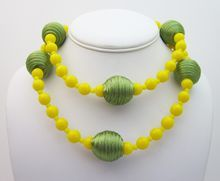 Vintage 1980's Moschino Yellow And Green Necklace