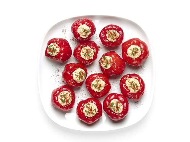 Get egg salad stuffed peppadews recipe from food network food egg salad stuffed peppadews forumfinder Choice Image
