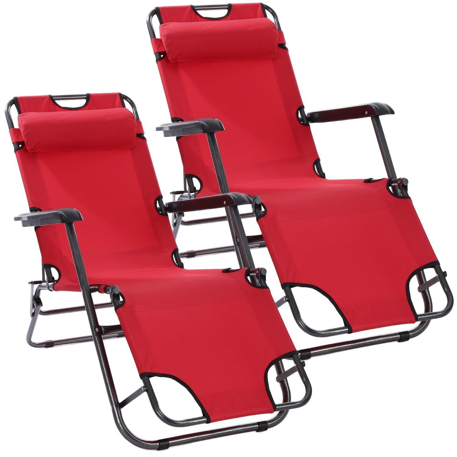 Pesters portable folding lounge chair chaise patio outdoor pool