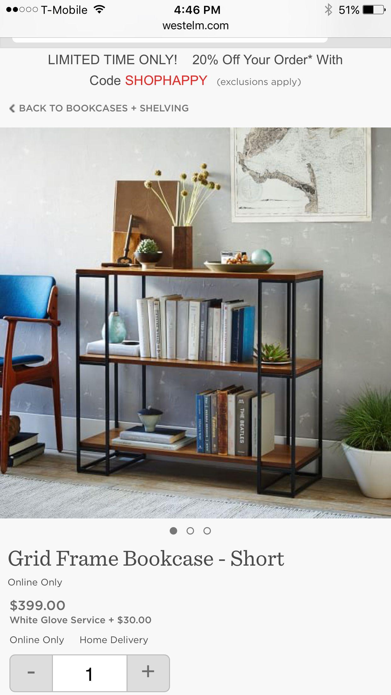 Love this open bookshelf, low for near front door (?) key