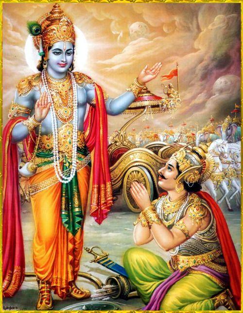Image result for krishna arjuna image