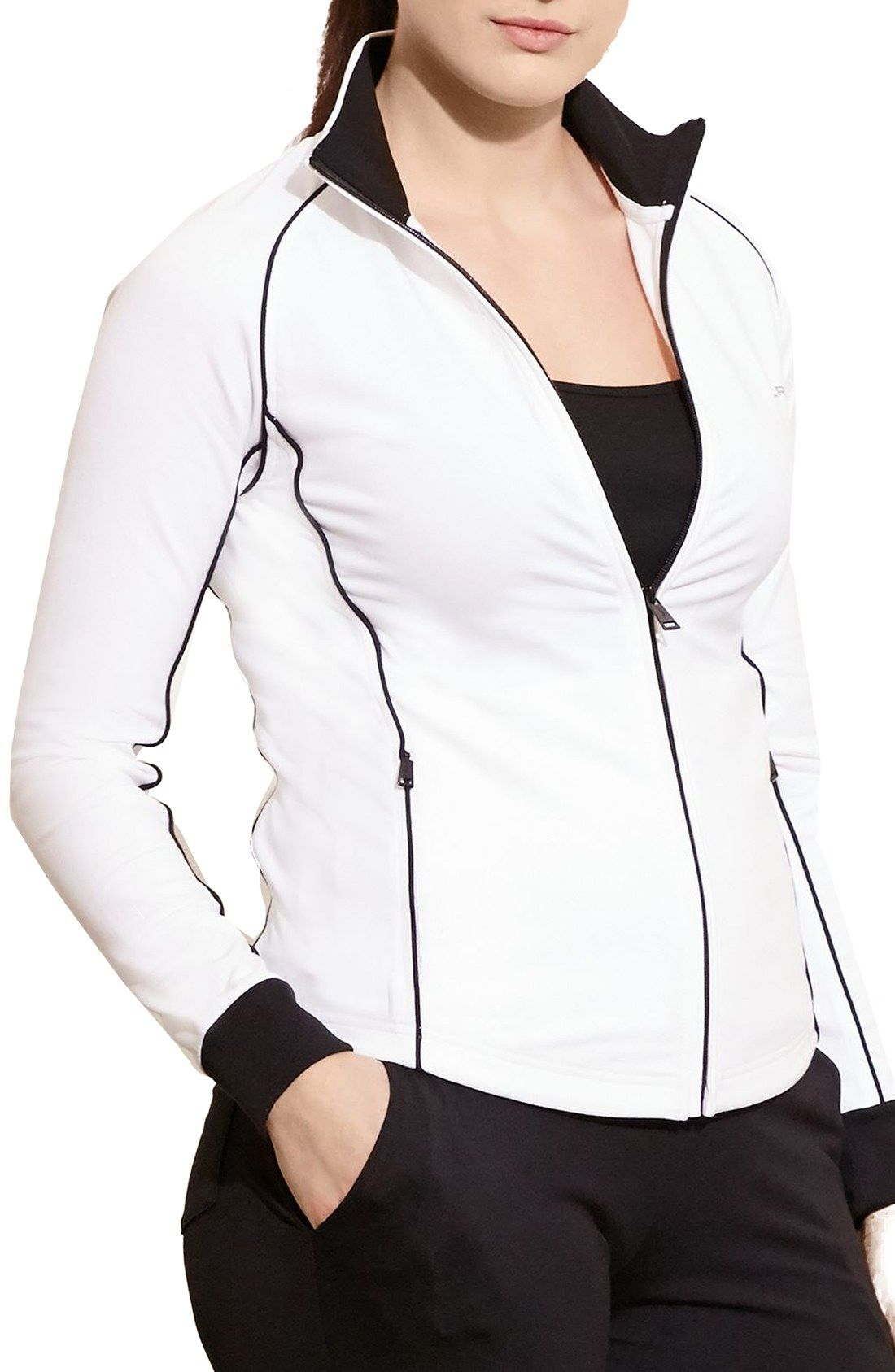 Lauren Ralph Lauren Colorblock Track Jacket (Plus Size