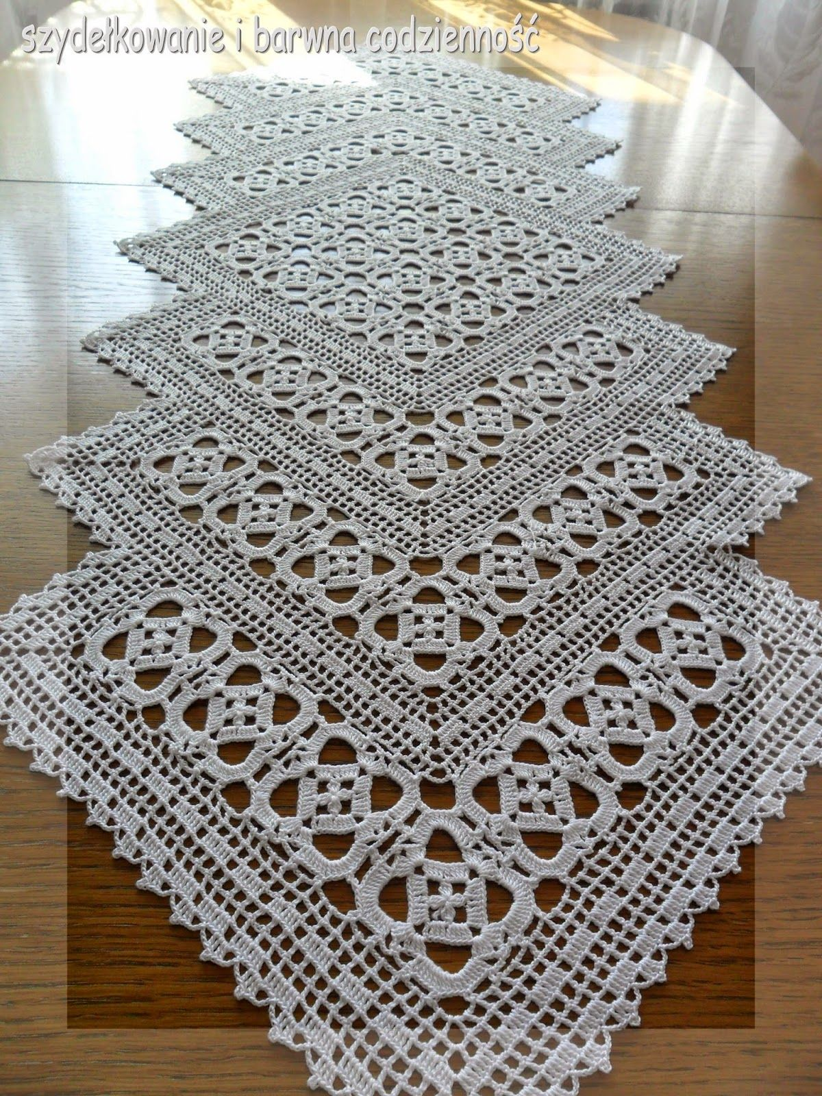 Szydekowanie i barwna codzienno proyectos que debo filet crochet runner pic for inspiration ccuart Images