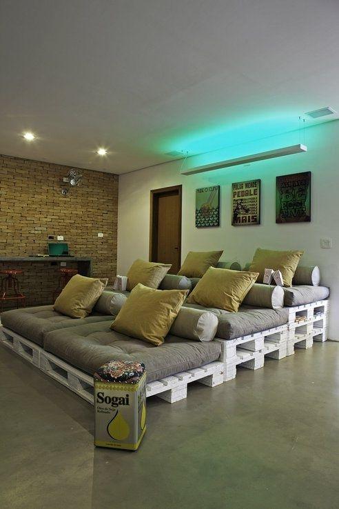 Paletten Kino Couch Ideen rund ums Haus Pinterest Paletten - wohnideen von europaletten