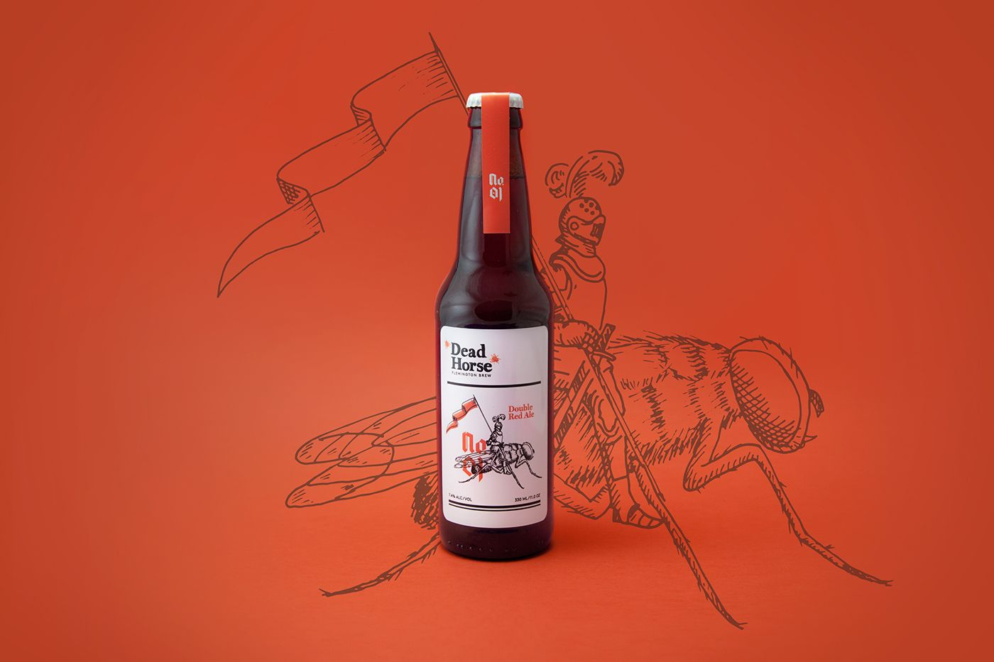 Dead Horse Beer On Behance Etiquetas De Vino Botellas Vinos