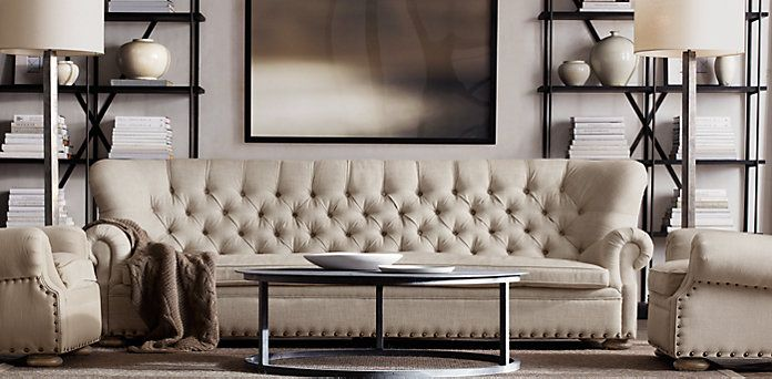 Churchill Fabric Sofa | Restoration Hardware ... I Want This Whole Room.