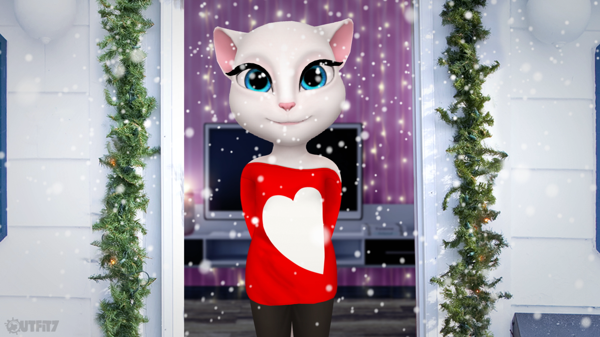My new app, My Talking Angela, is fabulous! Check out my stylish outfits