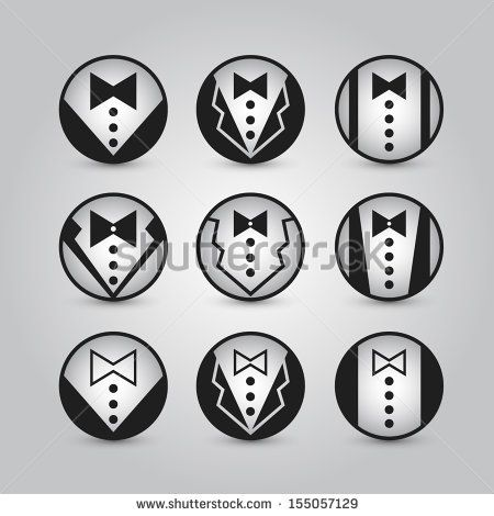 Vector round icons jacket. set